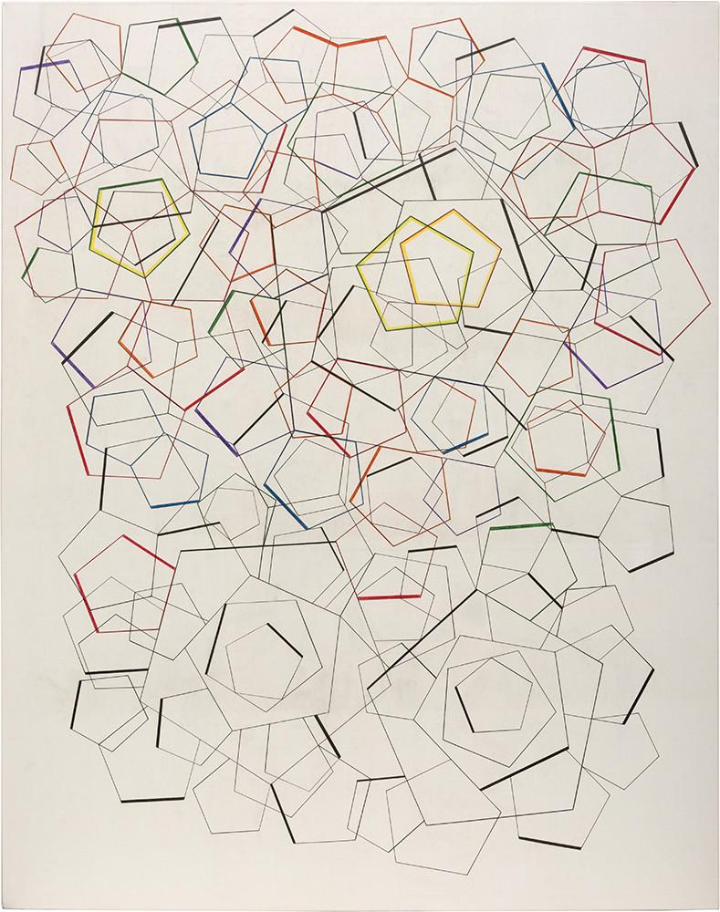 Pentagonos 15  190 x 150  cm
