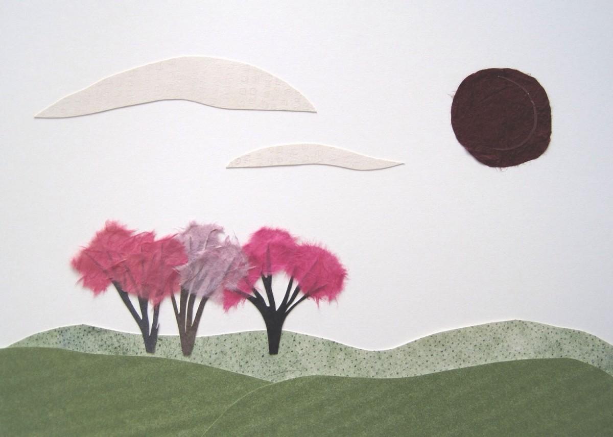 Three Pink Trees