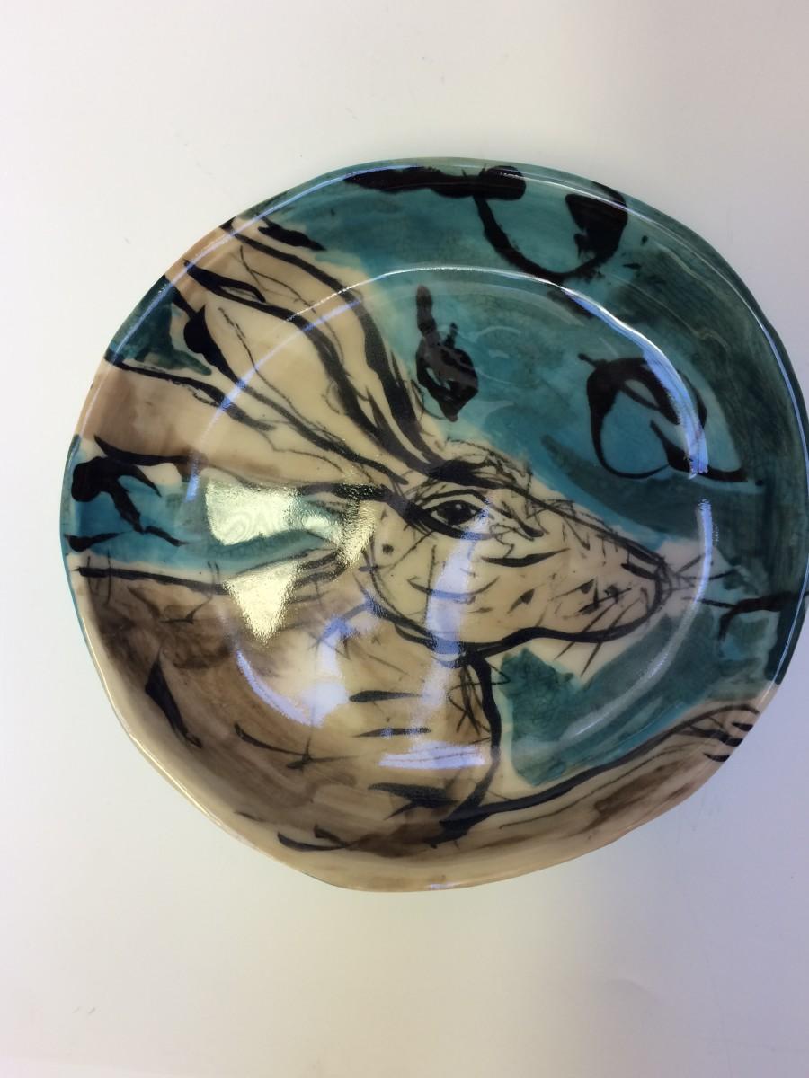 Porcelain Animal Plate - rabbit