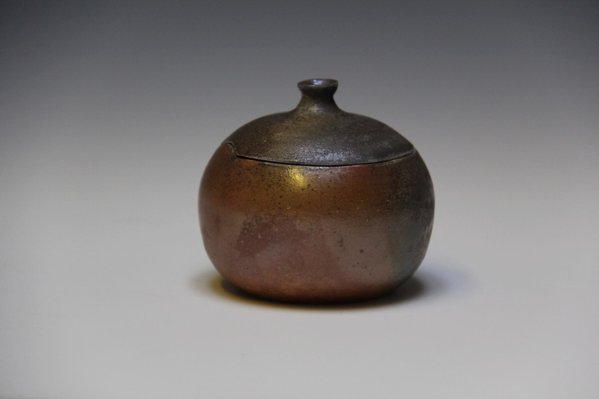 Lidded Anagama Bowl