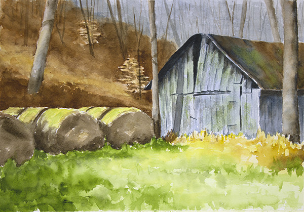Grassy Bales - Split Roof [autumn]