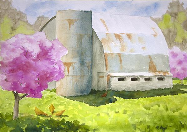 Barrel Roof Barn - Spring
