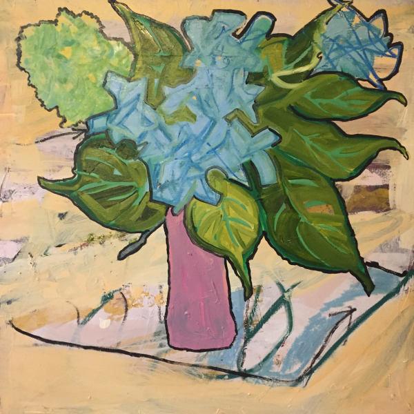 untitled (blue hydrangea)