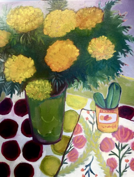 Marigolds and Cactus