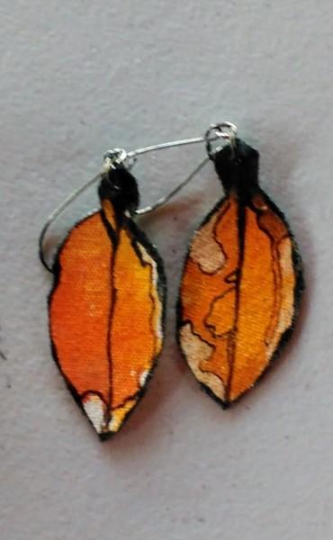 Pohutukawa Leaf Earrings 166