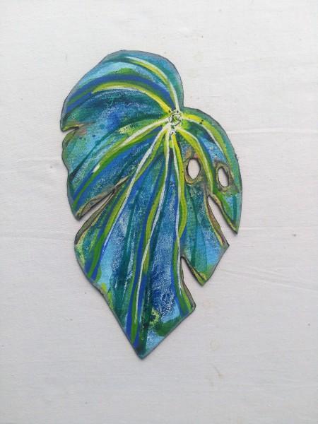 Blue Begonia Leaf . 022