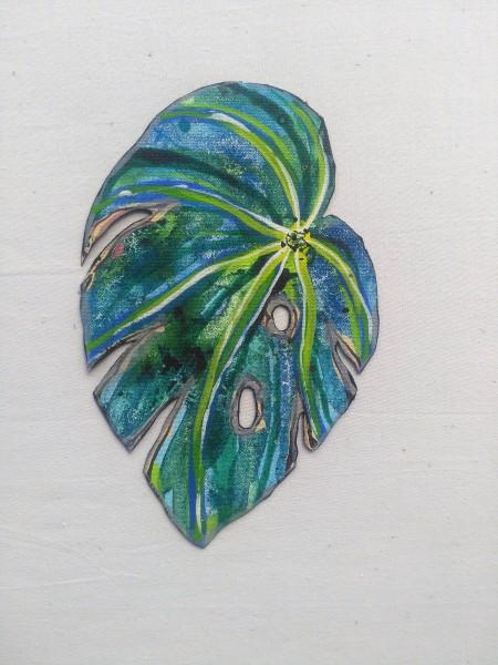 Blue Begonia Leaf . 023