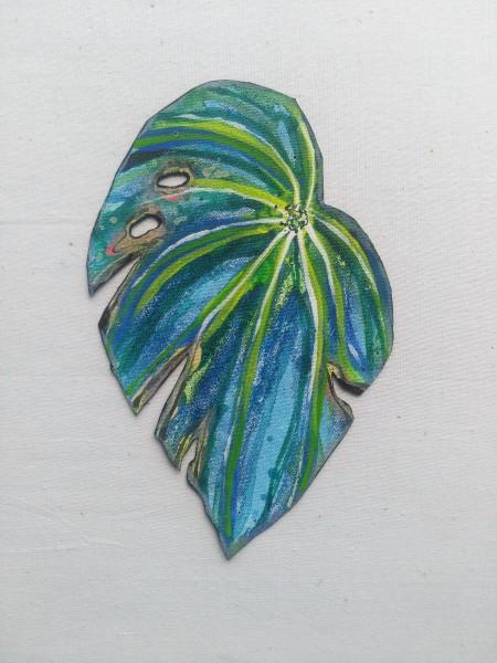 Blue Begonia Leaf . 024