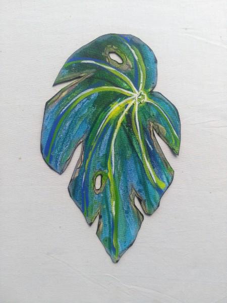Blue Begonia Leaf . 025
