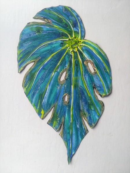 Blue Begonia Leaf . 026
