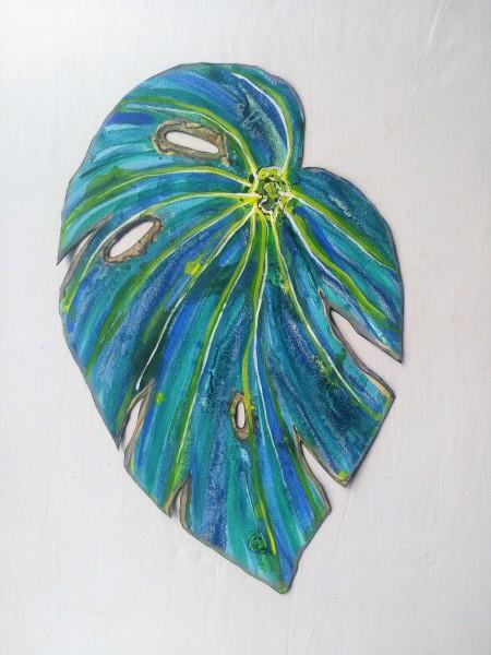 Blue Begonia Leaf . 027