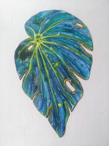 Blue Begonia Leaf . 028