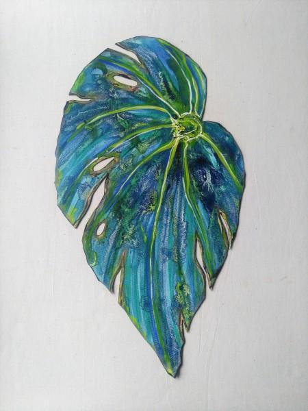 Blue Begonia Leaf . 029