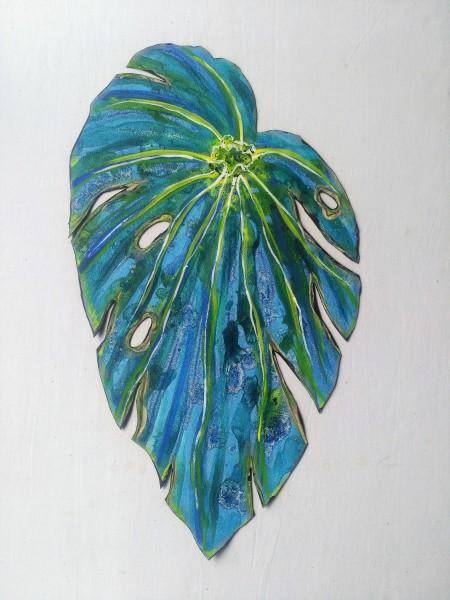 Blue Begonia Leaf . 030