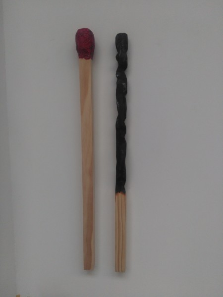 Carved Matchsticks  . Matched Pair . 177