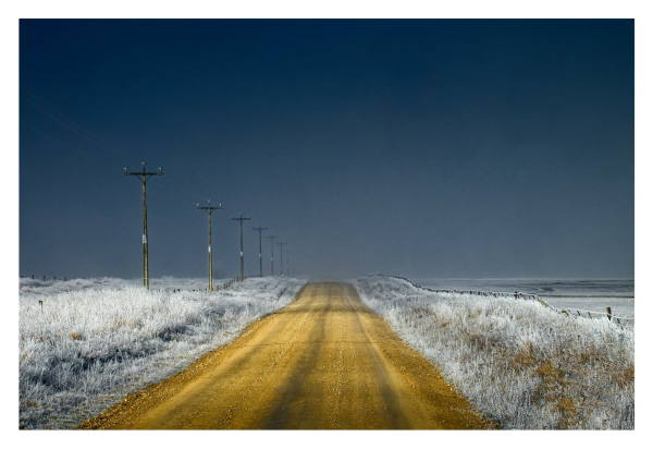 Hoar Frost and Road, Ranfurly, Central Otago