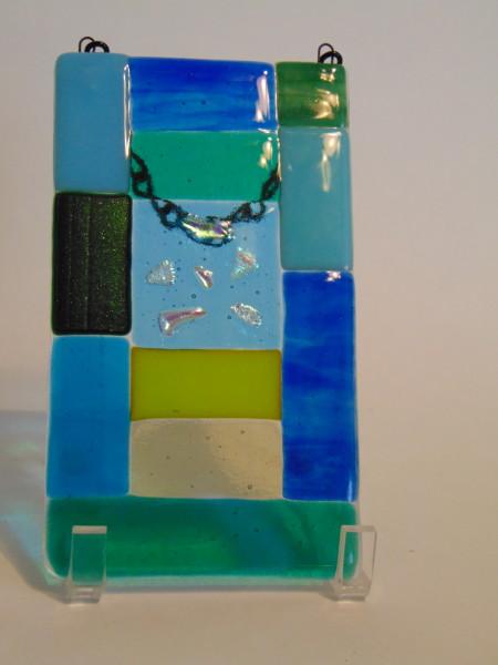 Garden Hanger-Small Abstract, blues/greens