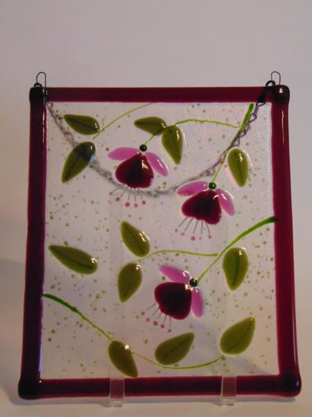 Garden Hanger-Three Fuschias in Purple/Pink