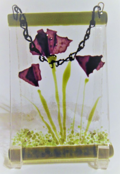 Garden Hanger-Purple Flowers