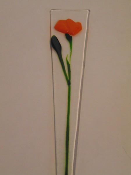 Plant Stake-Orange Poppy