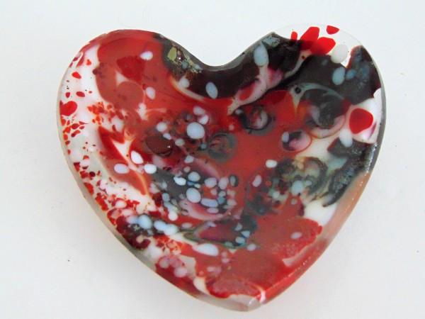 Heart Dish-Reds/White