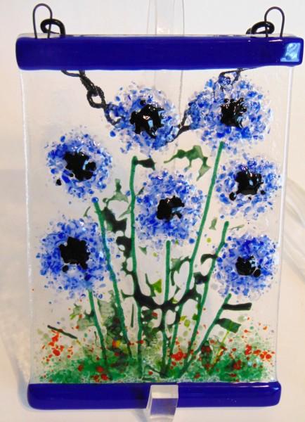 Garden Hanger-Blue Poms