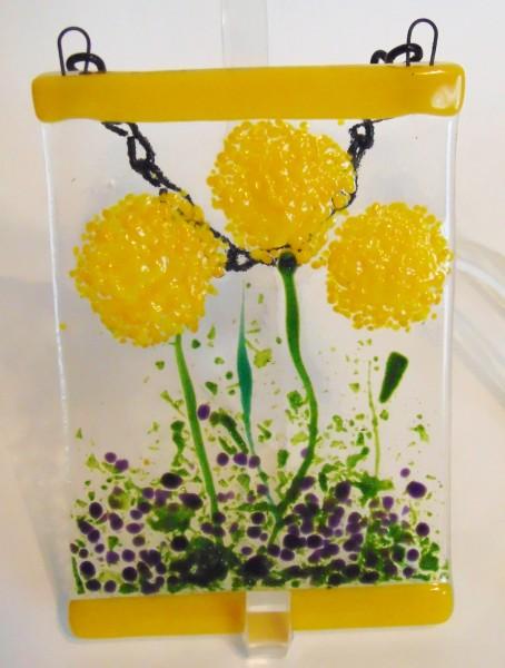 Garden Hanger-Yellow Pom Flowers