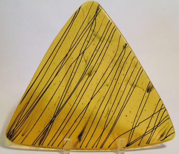 Triangular Plate-Amber with black stringer