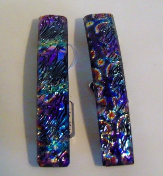 Barrette-Multi-Colored Ripple Dichroic