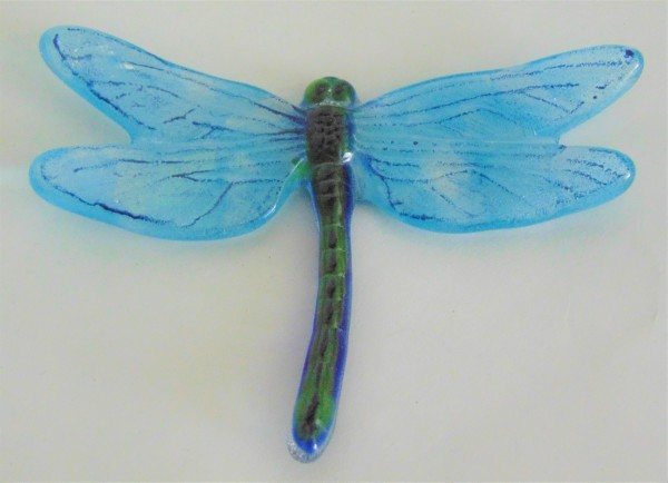 Dragonfly, Large-Green with Turquoise Irid Wings