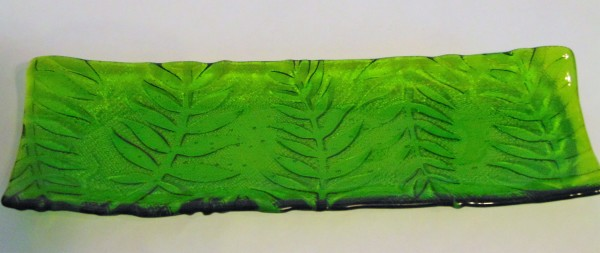Long Tray-Green with Fern Imprint