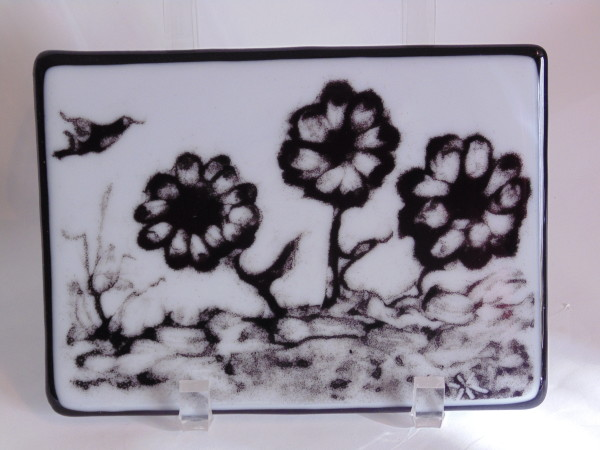 Powder Painting-Flowers & Bird