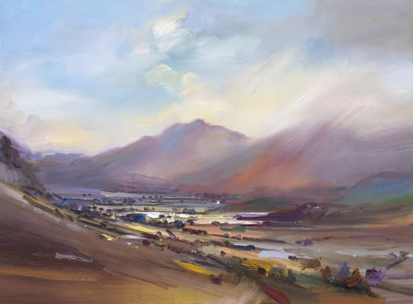Evening Light and Rain Langdale