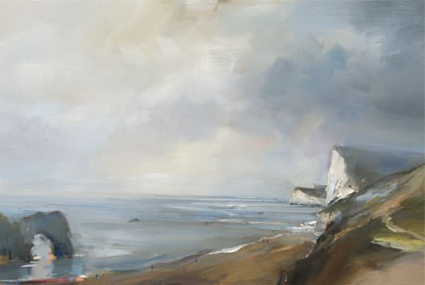 Durdle Door on a Misty Day