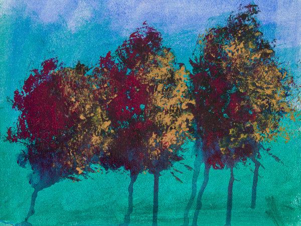 Tree Series Blue 3
