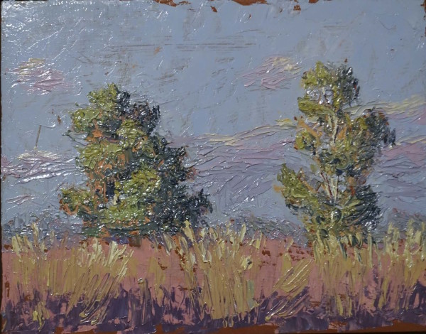 Plein Air Study with 2 Trees