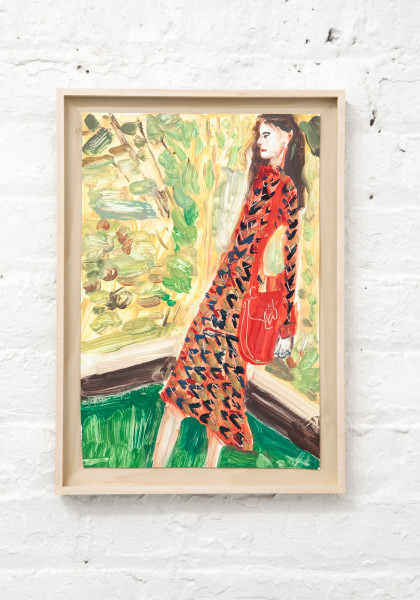 Untitled (red dress and pants)