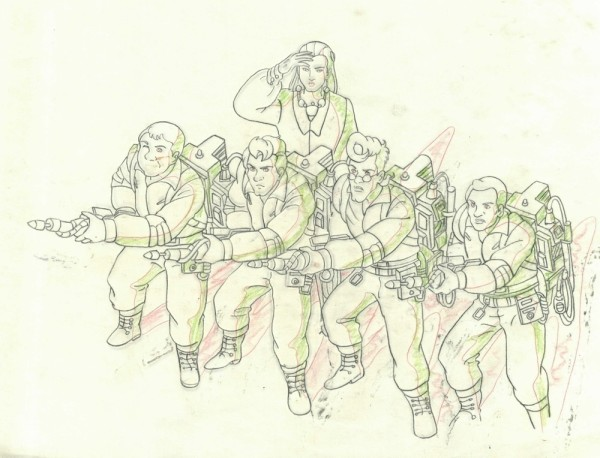 The Real Ghostbusters - Production Drawing - The Team