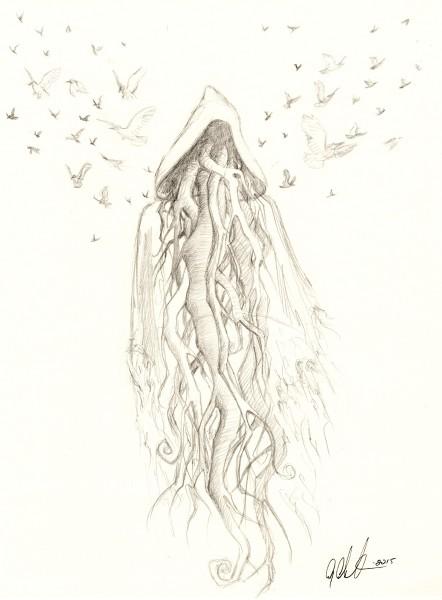 Tree Spirit (Preliminary Drawing)