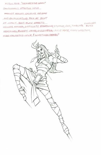 Mummies Alive - Character Model - Nefertina Knee