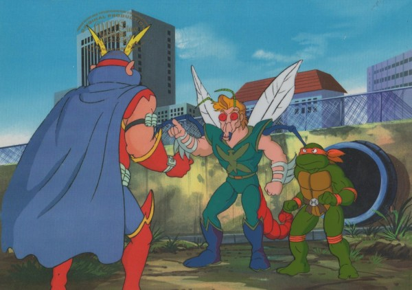 TMNT - Cel - Bugman and Michaelangelo