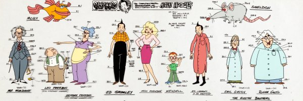 The Completely Mental Misadventures of Ed Grimley - Character Model Pan Cel