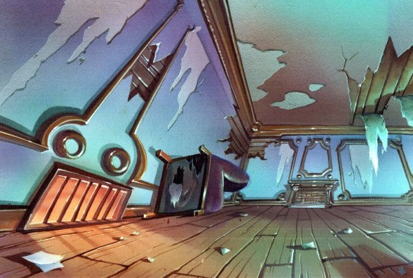 TMNT - Background Concept - Abandoned Mansion