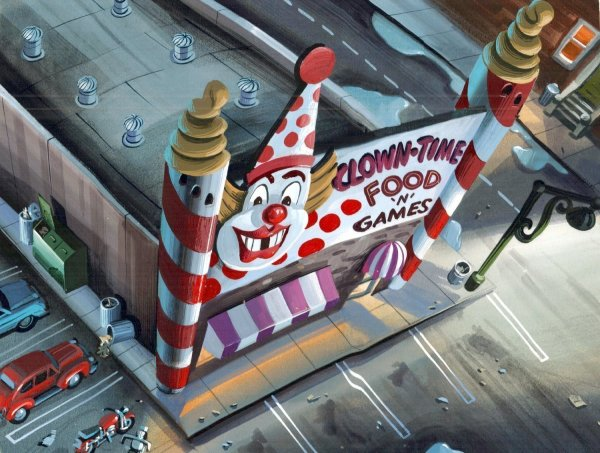 TMNT - Background Concept - Clown-Time Food and Games
