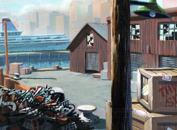 TMNT - Background Concept - Docks