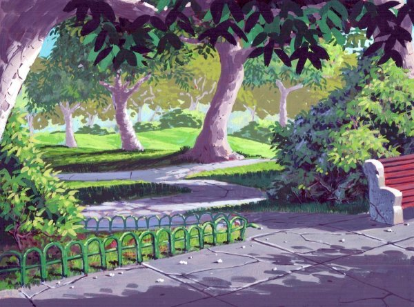 TMNT - Background Concept - Secluded Park
