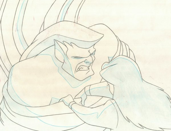 Gargoyles - Production Drawing - Goliath and Elisa