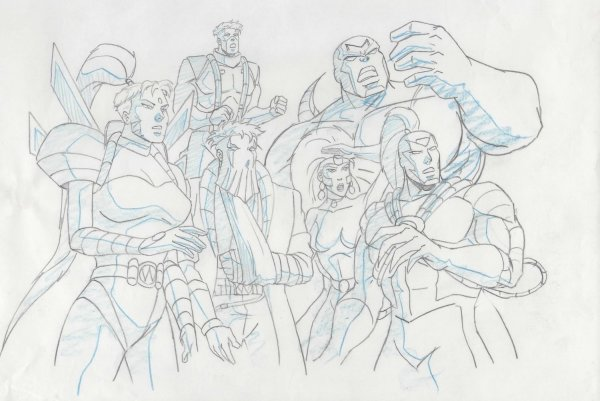 WildC.A.T.s - Production Drawing - Group