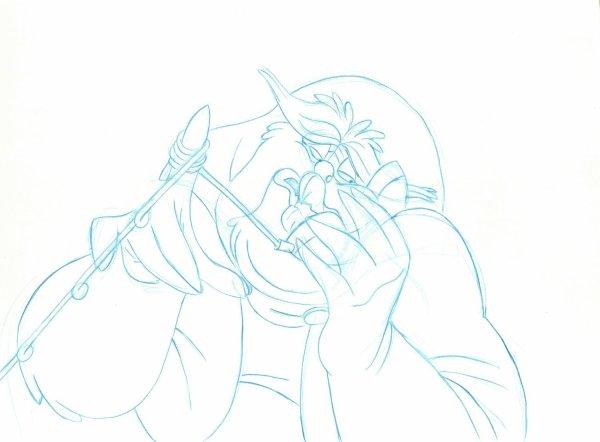 Rock-a-Doodle - Production Drawing - Duke