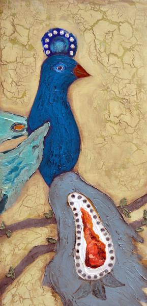 Turquoise Poof-headed Bird